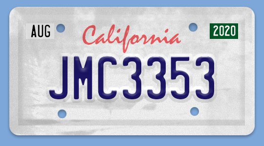 Draw Your Own California License Plate